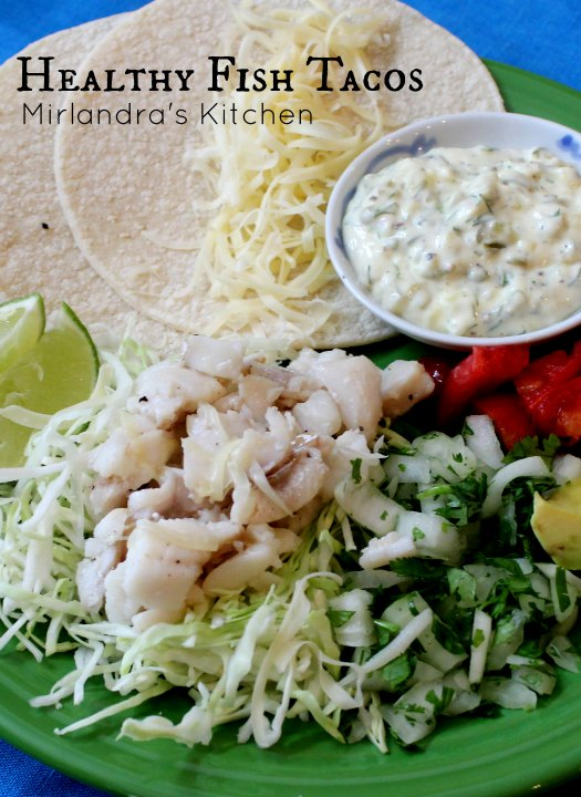 The original photo of healthy cod fish tacos that I shared on this post in 2014. The ingredients are all out on a platter and it isn't terrible but it isn't appitizing!