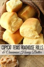 These Copycat Texas Roadhouse Dinner Rolls are amazingly soft and the Cinnamon Honey Butter puts them over the top! Only 10 minutes of active work!