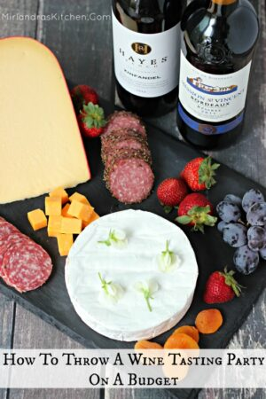 """You can throw a fun wine tasting party on a budget. I provide all the best """"how to"""" info and some great tips for setting up the party of the season!"""
