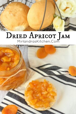 Bursting with flavor, Dried Apricot Jam is easy to make in the cool months and perfect for Christmas gifts. No pectin is required and the jam is ready in 35 minutes.
