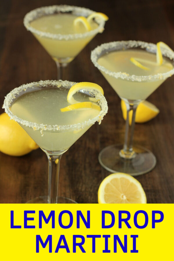 Do you make your own lemon drop martinis? Simple to prepare, and lemony perfection to drink. This is one of the easiest cocktails and everybody loves them!  Try my lemon sugar recipe on the rim - it is excellent!  You can make these a few at a time or mix up as a big batch cocktail for a party.  Perfect for Friday nights, bridal showers, Easter brunch, or summer BBQs.