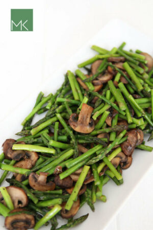 Sauteed Asparagus and Mushrooms